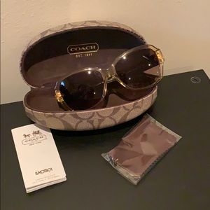 Couch sunglasses brown and tan excellent condition